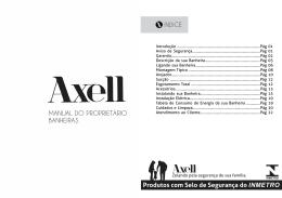 Baixar Manual Banheiras - Axell Banheiras e Spas