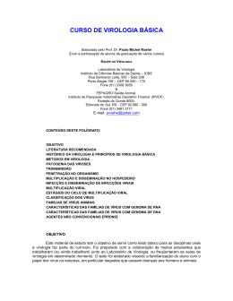 CURSO DE VIROLOGIA BÁSICA