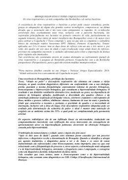 BRONQUIOLOPATIAS X TOSSE COQUELUCHÓIDE Os