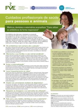 Cuidados profissionais de saúde para pessoas e animais