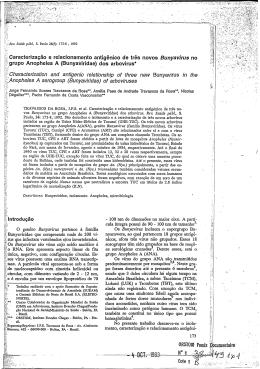 (Bunyaviridae) dos arbovirus = Charact