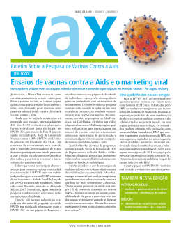 Ensaios de vacinas contra a Aids e o marketing viral