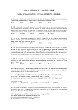 LISTA DE EXERCÍCIOS 08 – PROF. FELIPE KELLER QUEDA
