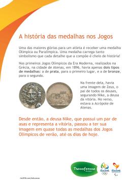 A história das medalhas nos Jogos