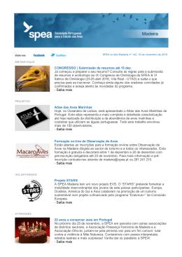 SPEA online Madeira n.º 142
