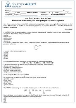Química Orgânica - Colégios Maristas