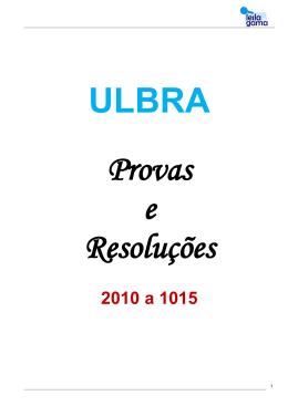 ULBRA – Provas e resoluções