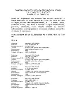 CONSELHO DE RECURSOS DA PREVIDÊNCIA SOCIAL