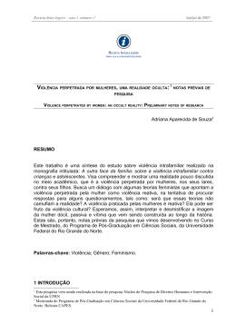 Adriana Aparecida de Souza2 RESUMO Este