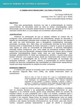 O CINEMA NOVO BRASILEIRO - Centro Universitário Barão de Mauá