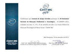 Leonard de Araujo Carvalho - Senept - Cefet-MG