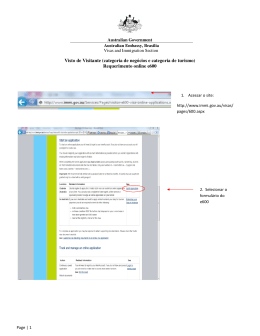 Dicas para o preenchimento do formulário online