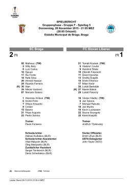 FC Slovan Liberec SC Braga