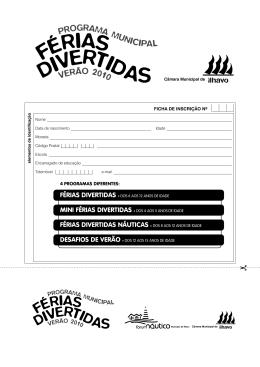 FÉRIAS DIVERTIDAS NÁUTICAS » DOS 8 AOS 12 ANOS DE IDADE