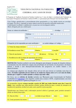 Inquérito 2014 - Federação das Associações portuguesas de