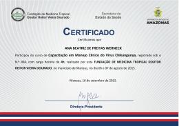ANA BEATRIZ DE FREITAS WERNECK Participou do curso de