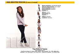 Top Kids & Teens ANA BEATRIZ ROCHA (9 anos e 9 meses)