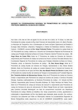 PROCESSO Nº 01394068-6: - Ministério Público do Estado do Ceará