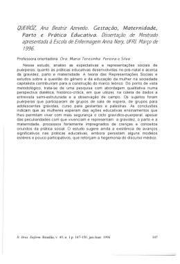 QUEIRÓZ, Ana Beatriz Azevedo. Dissertação de Mestrado