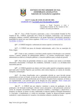 ESTADO DO RIO GRANDE DO SUL ASSEMBLEIA LEGISLATIVA