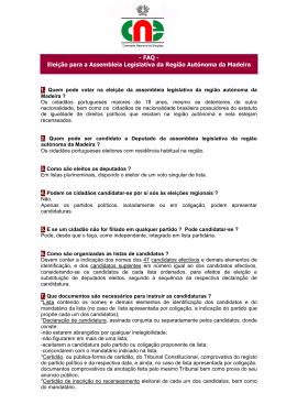 - FAQ - Eleição para a Assembleia Legislativa da Região Autónoma