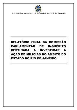 Relatorio Final CPI das Milicias - NEPP