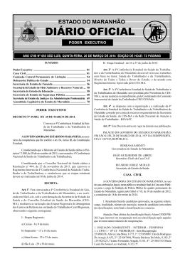 diário oficial - Polícia Militar do Maranhão.