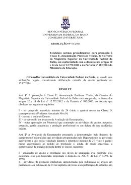 Resolução nº 04 - TWiki - Universidade Federal da Bahia