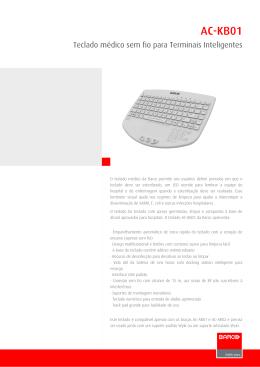 AC-KB01 - Especificações técnicas