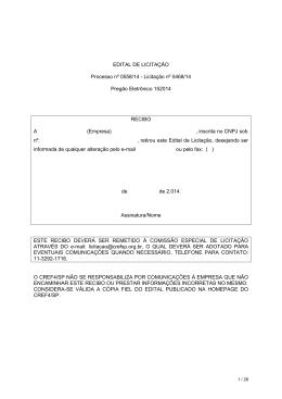 EDITAL DE LICITAÇÃO Processo nº 0558/14