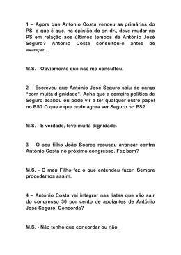 Entrevista - Fundação Mário Soares