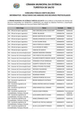 CÂMARA MUNICIPAL DA ESTÂNCIA TURÍSTICA DE SALTO