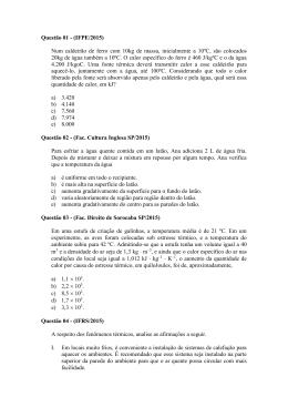 Segundo ano - Prof. Fabiano Meira