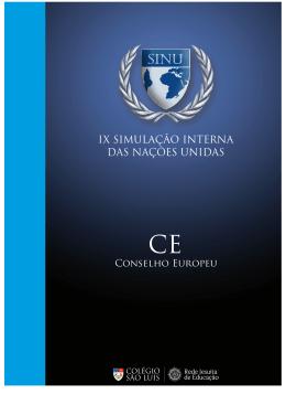 IX SINU – Conselho Europeu
