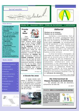 Jornal escolar Jornal escolar - Agrupamento de Escolas Alfredo da