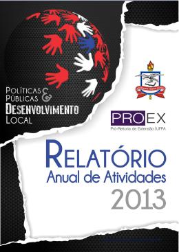 Relatório Anual de Atividades/PROEX/2013 - Pró