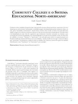 community colleges e o sistema educacional norte-americano