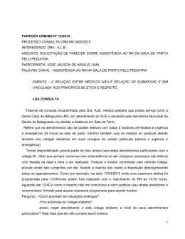 1 parecer crm/ms n° 12/2015 processo consulta crm ms 0009/2015