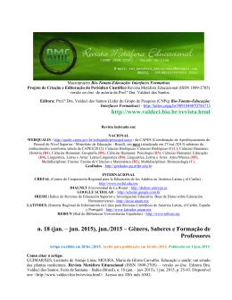 educação e saúde: um estudo das plantas medicinais