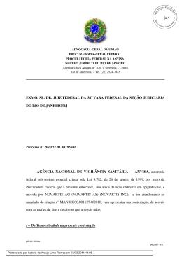 EXMO. SR. DR. JUIZ FEDERAL DA 38ª VARA FEDERAL DA