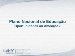 Plano Nacional de Educação - Daniel Cerqueira