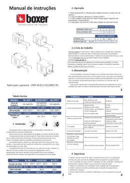 Manual Bx160T - Boxer Soldas