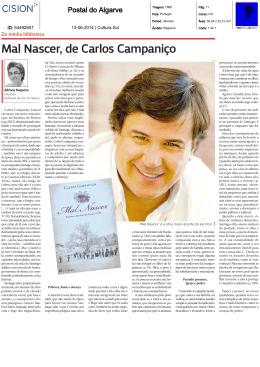 Mal Nascer, de Carlos Campaniço
