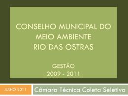 APRESENTACAO_CAMARA_TECNICA_COLETA_SELETIVA (2011).