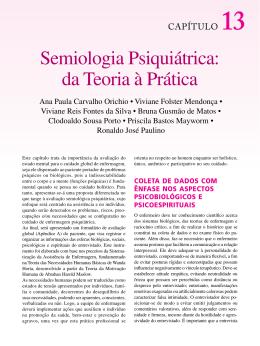Semiologia Psiquiátrica: da Teoria à Prática