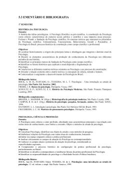 5.3 EMENTÁRIO E BIBLIOGRAFIA - Faculdade Adventista da Bahia