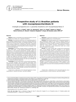 Prospective study of 11 Brazilian patients with