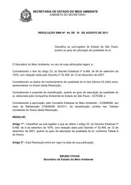 resolução sma nº 44, de 19 de agosto de 2011