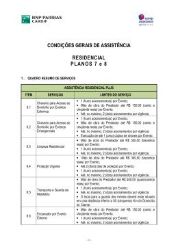 Europ Residencial Planos 7 e 8