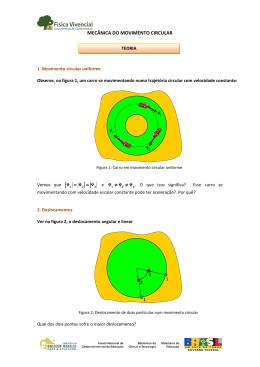mecânica do movimento circular - Banco Internacional de Objetos